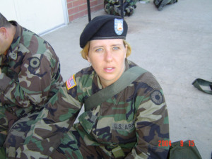 Amy Brian During Active Duty       (Photo-CJOnline)