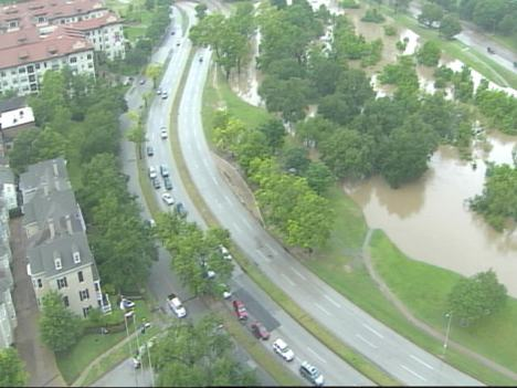 Buffalo Bayou and Allen Parkway near downtown Houston