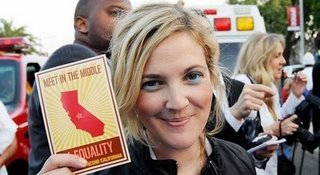 Drew Barrymore in support of Unite the Fight