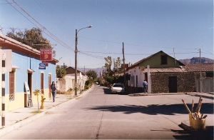 One of the quiet streets of Vicuña.