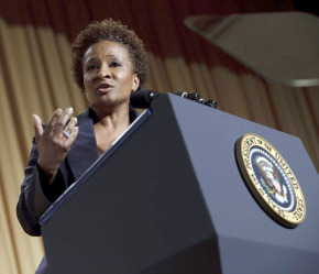 Wanda Sykes at the White House Correspendents Dinner (Photo/ Brendan Smialowski)