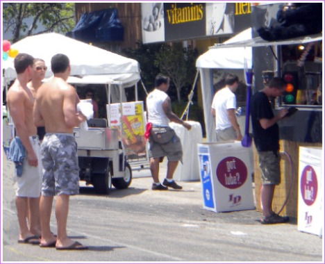 Taking in the sights in the heat of the day at Houston's Pride Festival