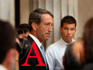 "South Carolina Governor Mark Sanford, another of the ""A-List"" Republicans"