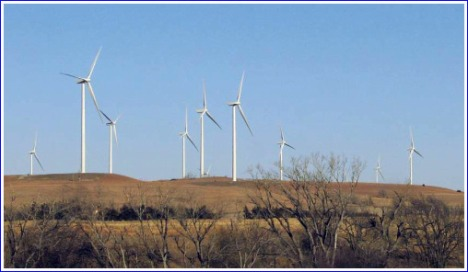 Change has come to the Kansas landscape:  the Smoky Hills Wind Farm, Ellsworth and Lincoln Counties