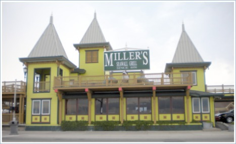 Miller's Landing Seafood Restaurant, re-adorned in Victorian style after Hurrican Ike.
