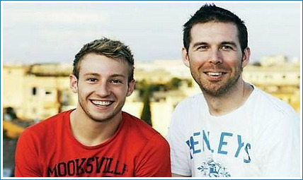 Matthew Mitcham and his partner Lachlan Fletcher enjoy the time they have together between busy schedules.