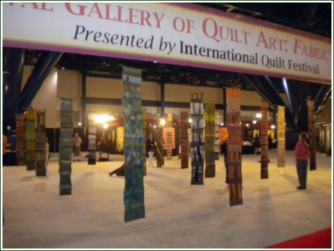 "An exhibit of ""tree"" quilts from Germany at the Houston International Quilt Festival"