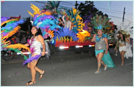 "One of the colorful entries of Pride Parade 2013--the theme this year was ""Pride Unleashed."""