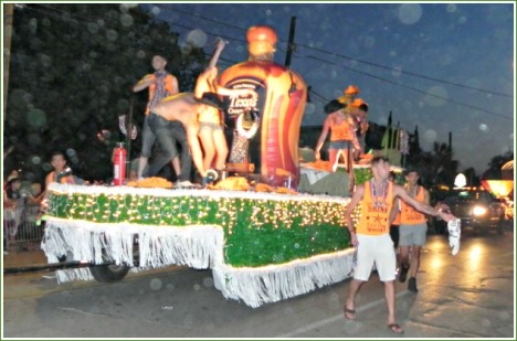 There was no shortage of commercial groups taking part in the parade.