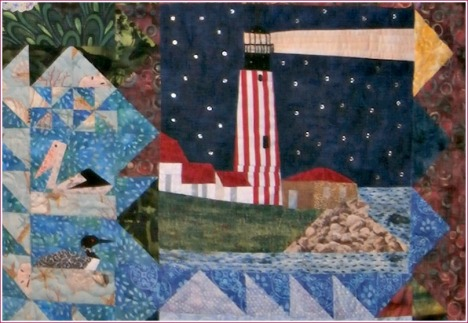 This close-up shows all the hard work that went into making this group quilt.