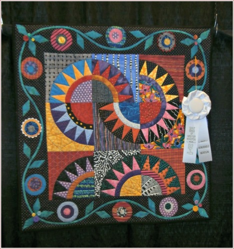 This bright, geometric design garnered one of the prizes at the GHQG 2013 Quilt Show.