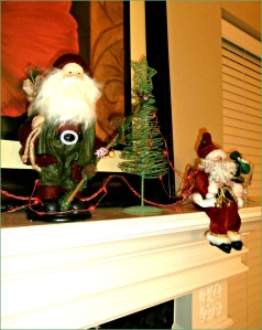 The best reason to have a mantle is to have a place for Santas.